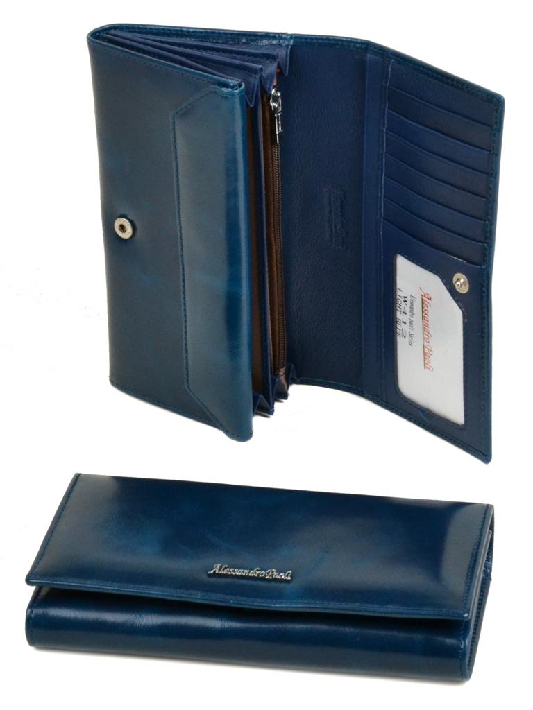 Кошелек ITA кожа Alessandro Paoli W412 l-blue