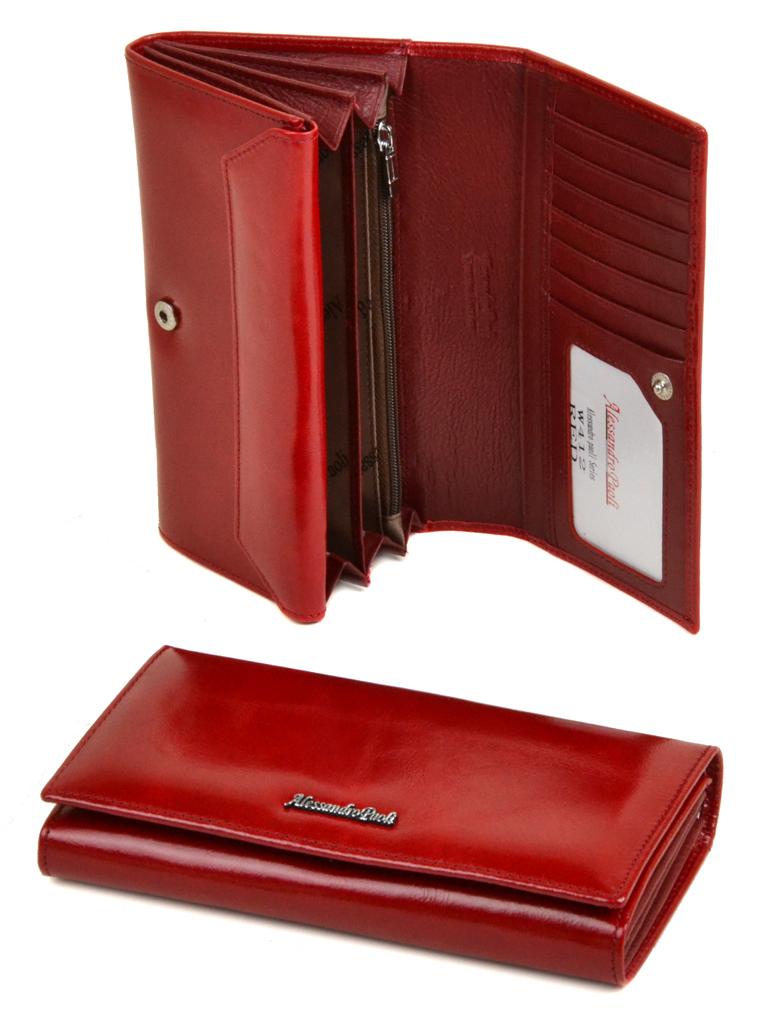 Кошелек ITA кожа Alessandro Paoli W412 red