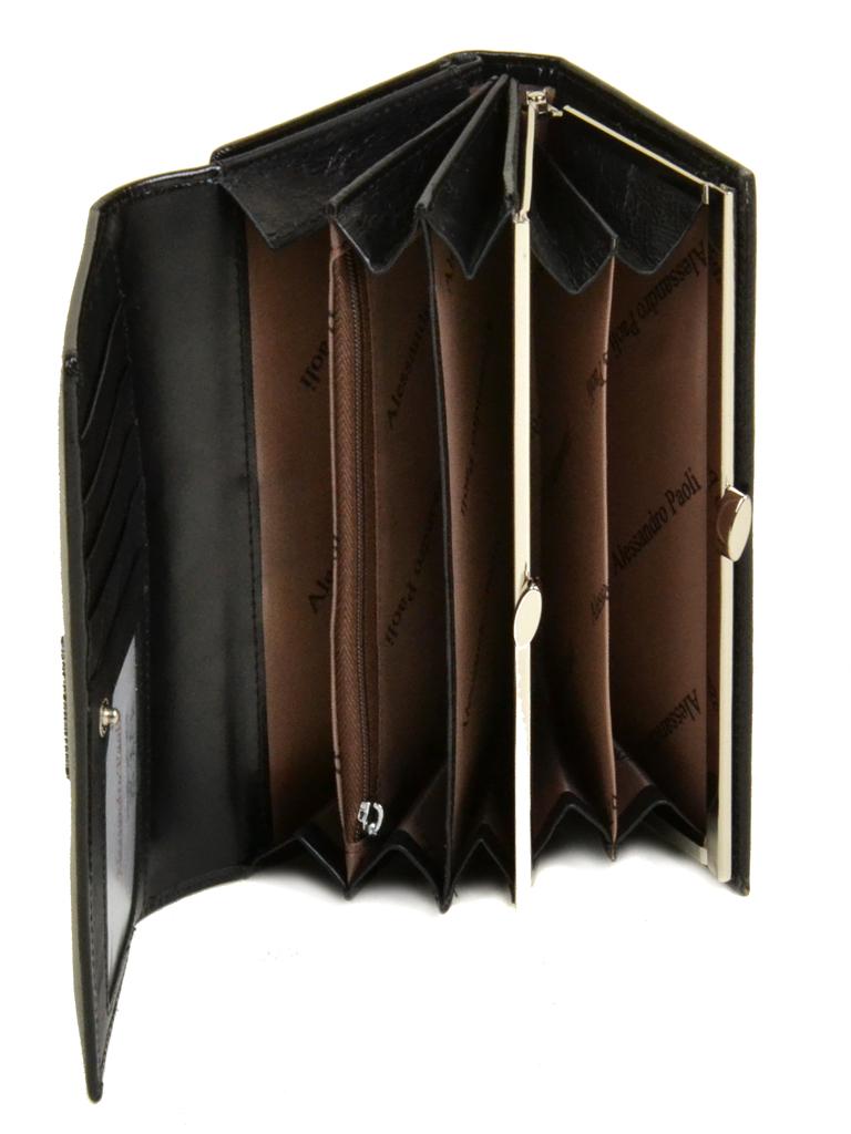 Кошелек ITA кожа Alessandro Paoli W46 black