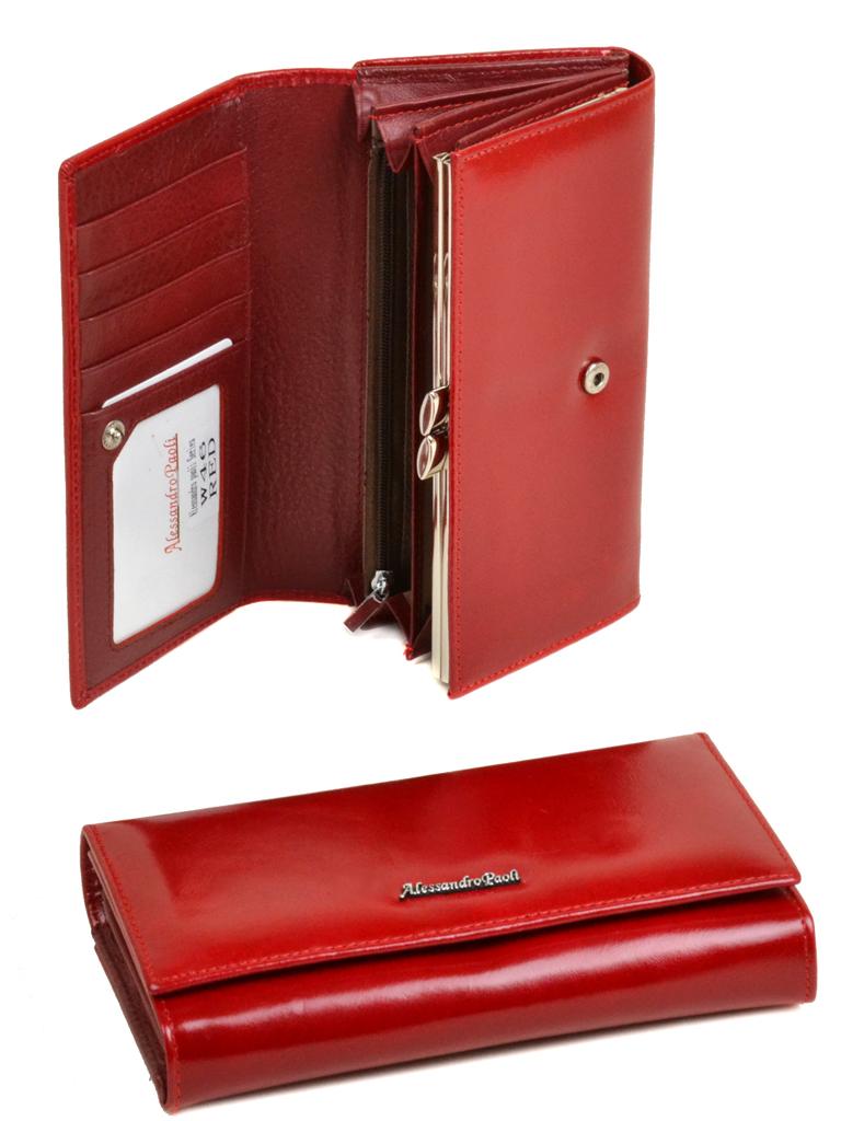 Кошелек ITA кожа Alessandro Paoli W46 red