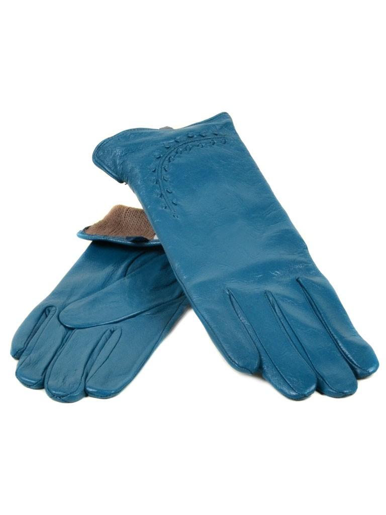 Перчатка Женская кожа МариClassic (Ш) F23 мод1 бирюза st16
