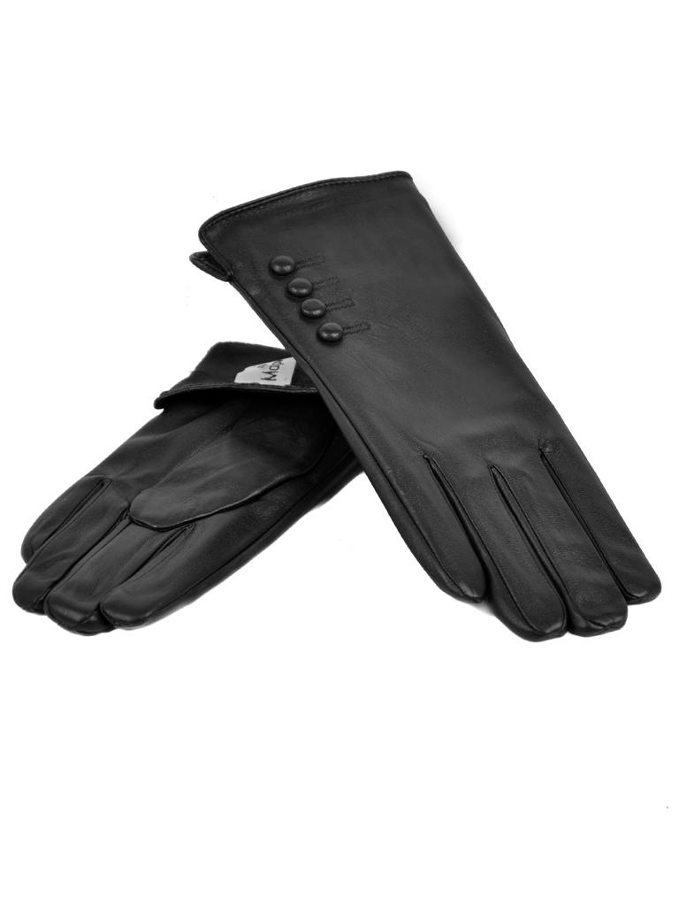Перчатка Женская иск-кожа МариClassic F17/17 мод3 black флис