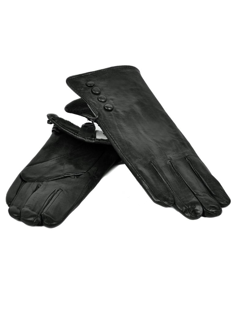 Перчатка Женская кожа МариClassic F24-1/17 мод1 black флис