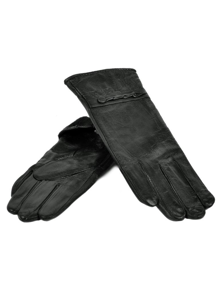 Перчатка Женская кожа МариClassic F24-1/17 мод12 black флис