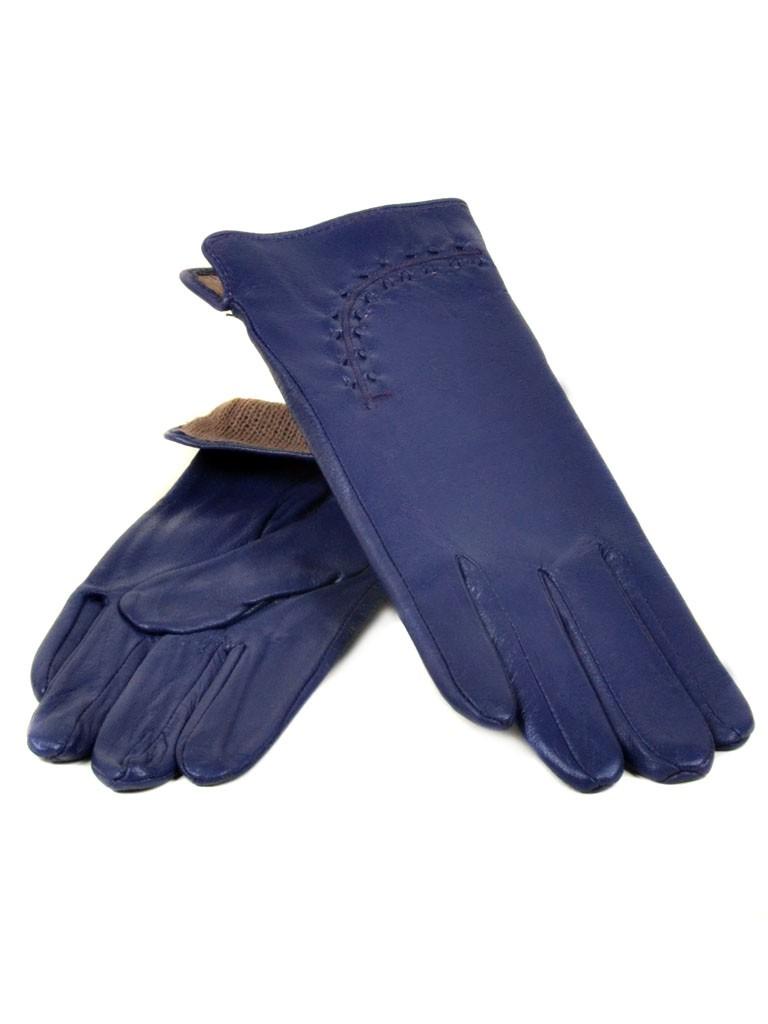 Перчатка Женская кожа МариClassic (Ш) F23 мод1 синий st20