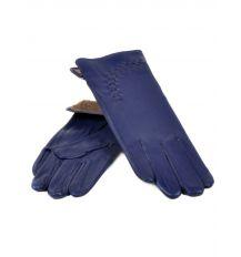Перчатка Женская кожа (Ш) F23 мод1 синий st20 Распродажа