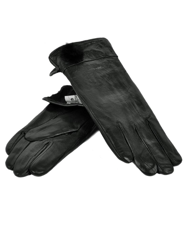 Перчатка Женская кожа МариClassic F24-1/17 мод4 black флис
