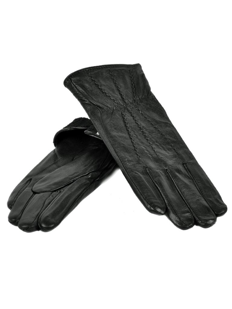 Перчатка Женская кожа МариClassic F24-1/17 мод9 black флис
