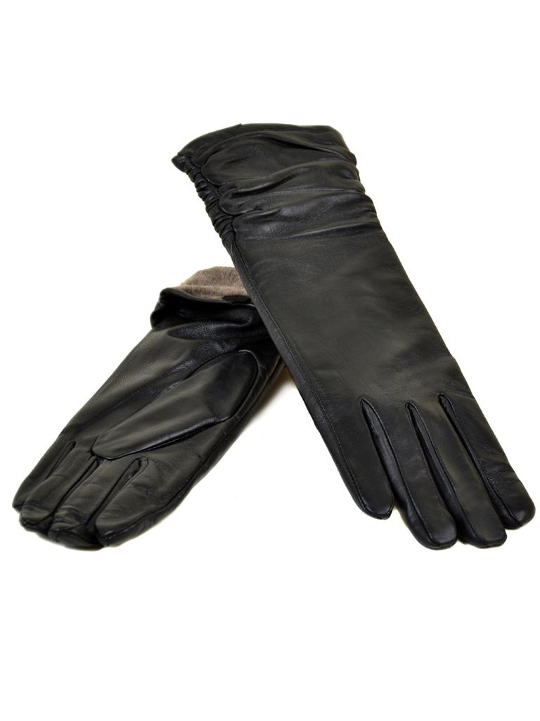 Перчатка Женская кожа МариClassic F31/17 33см мод1 black шерсть