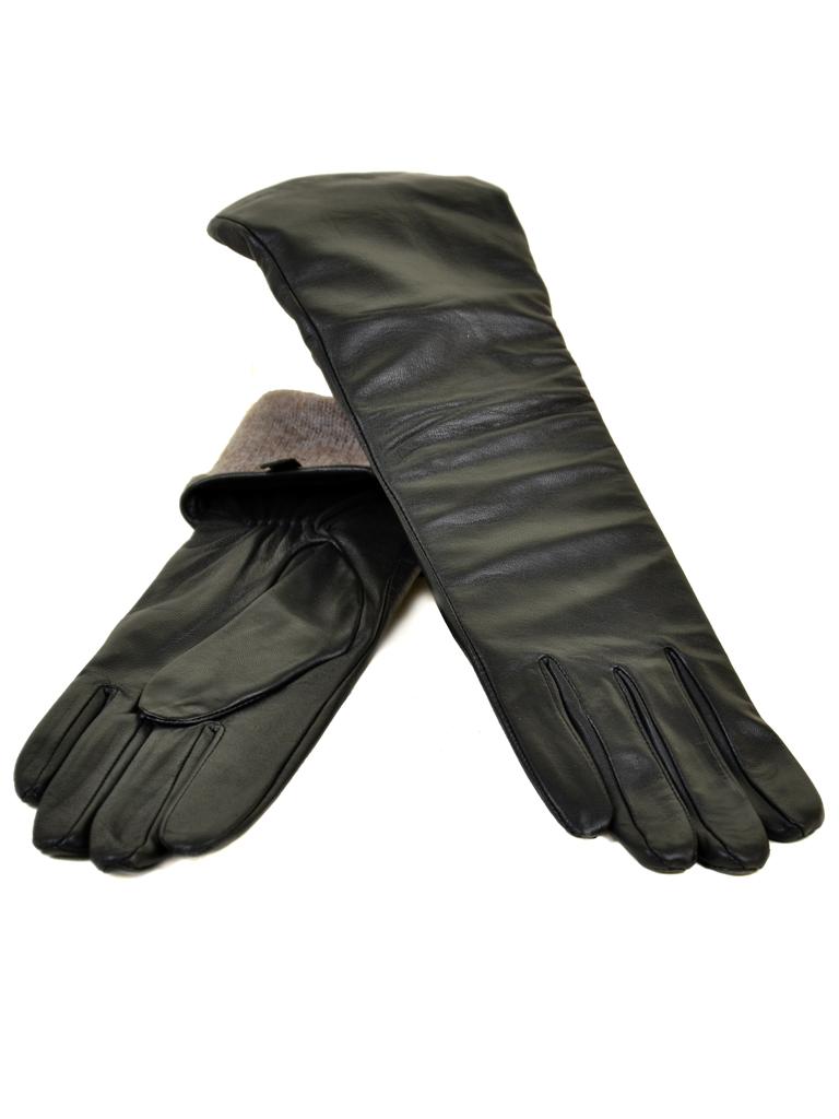Перчатка Женская кожа МариClassic F31/17 40см мод1 black шерсть