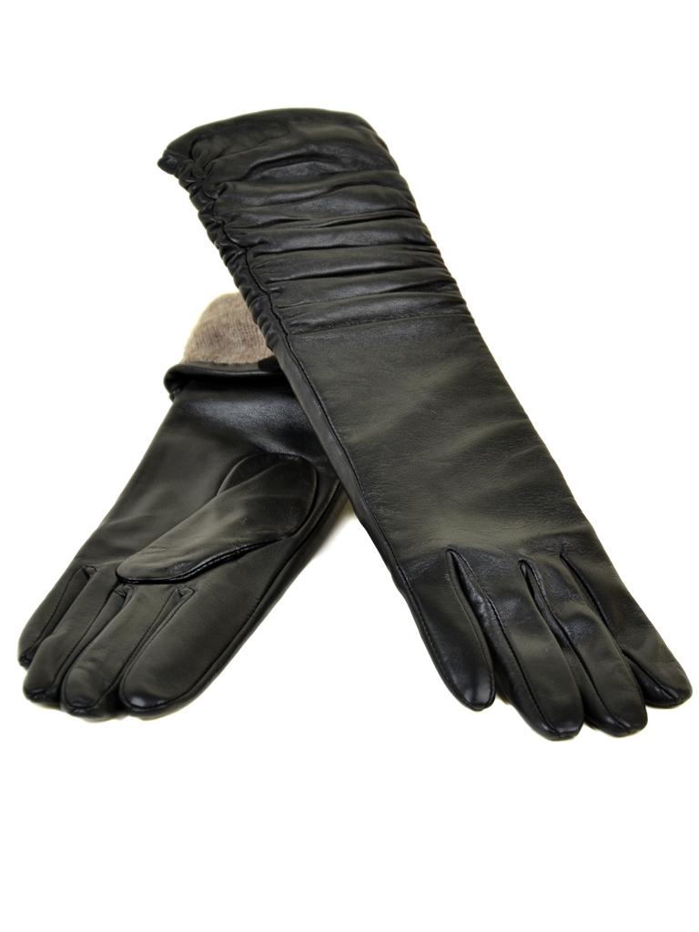 Перчатка Женская кожа МариClassic F31/17 40см мод2 black шерсть