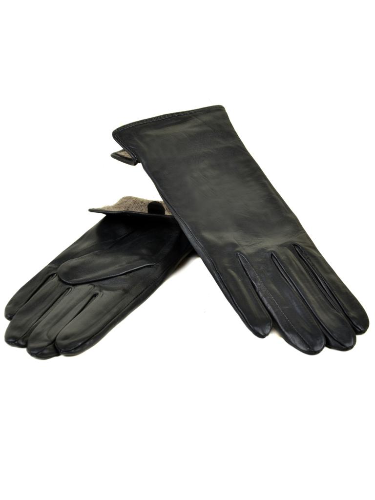Перчатка Женская кожа МариClassic F31/17 мод1 black шерсть