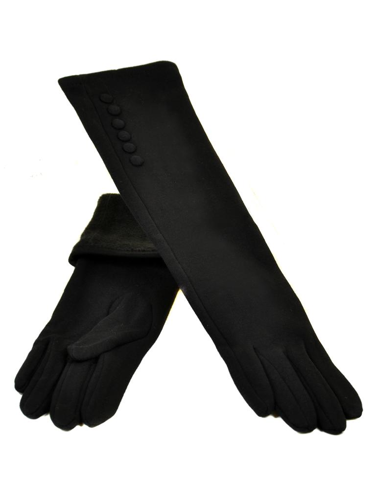 Перчатка Женская стрейч МариFashion F16-2/17 40см мод1 black