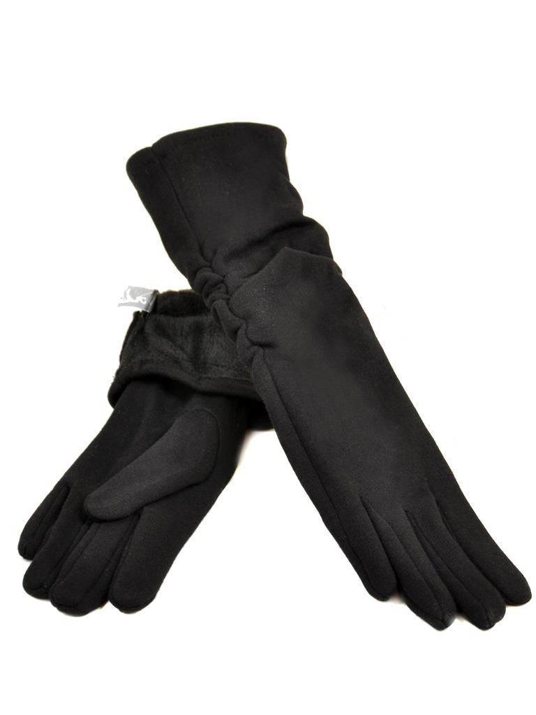 Перчатка Женская стрейч МариFashion F16-2/17 40см мод2 black