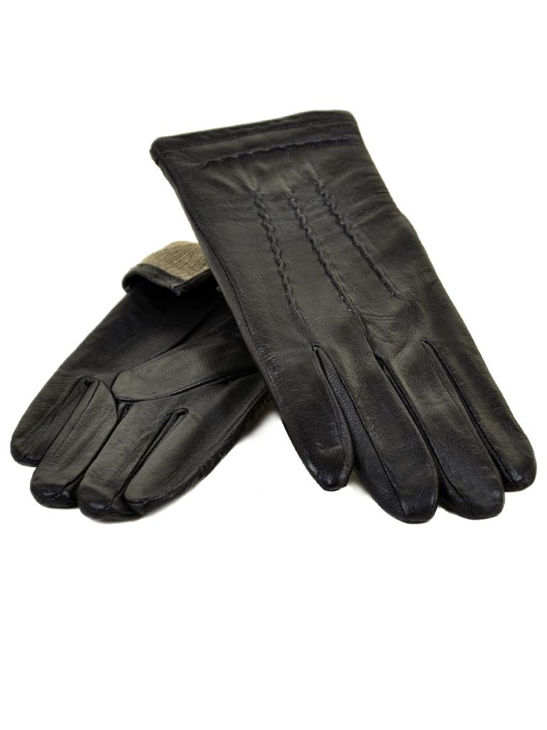 Перчатка Мужская кожа МариClassic M21/17 мод4 black шерсть