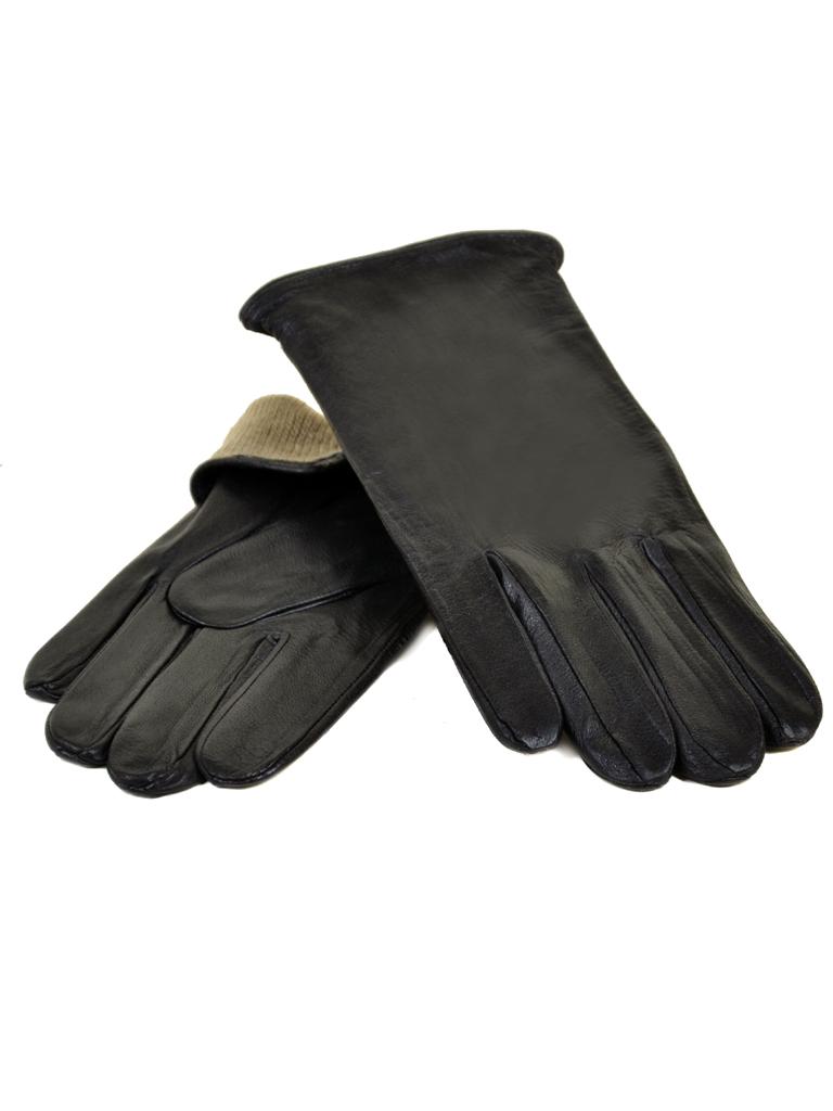 Перчатка Мужская кожа МариClassic M21/17 мод5 black шерсть