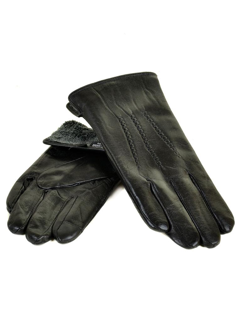Перчатка Мужская кожа M21-17/1 мод3 black махра