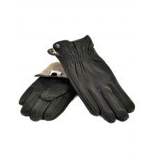 Перчатка Мужская кожа M22/17 мод2 black Шерсть