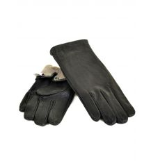 Перчатка Мужская кожа M22/17 мод3 black Шерсть
