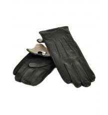 Перчатка Мужская кожа M22/17 мод4 black Шерсть