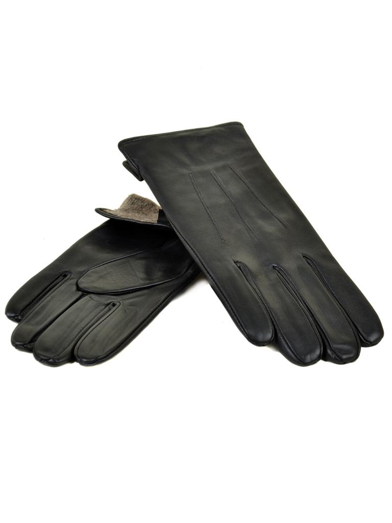 Перчатка Мужская кожа МариClassic M31/17 мод4 black шерсть