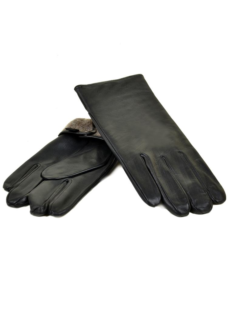 Перчатка Мужская кожа МариClassic M31/17 мод5 black шерсть
