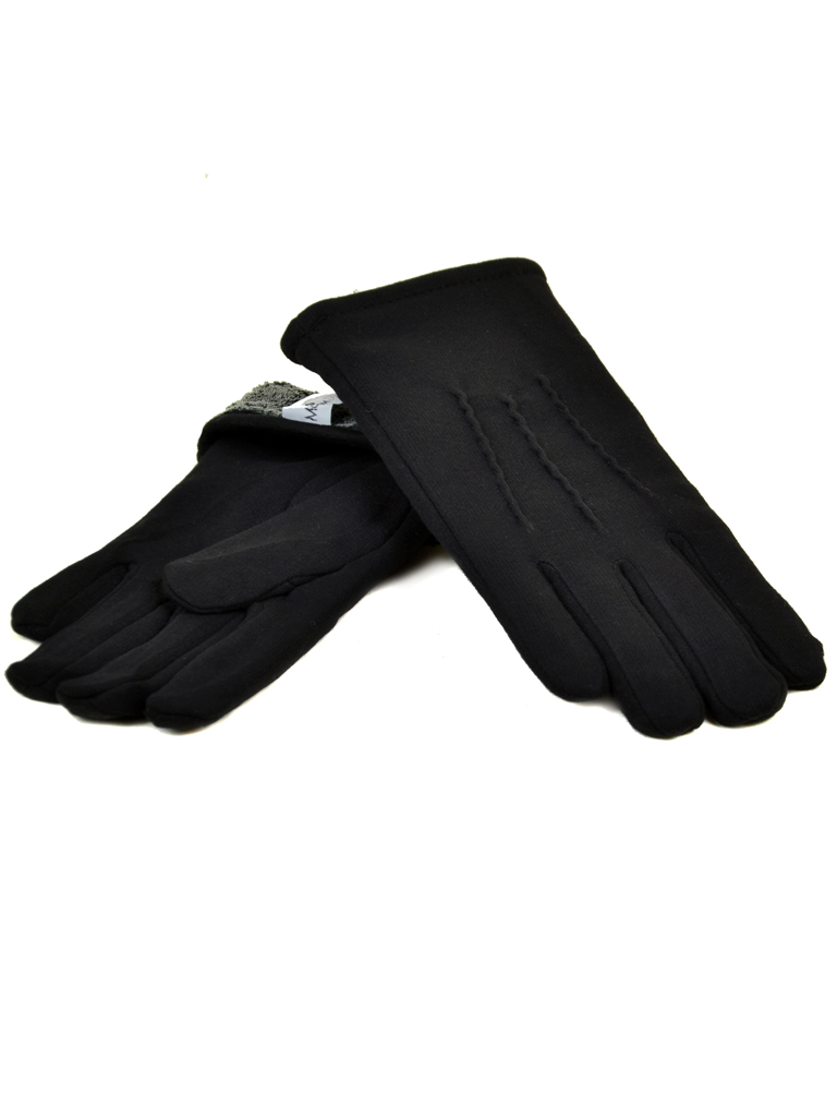 Перчатка Мужская стрейч МариFashion M1/17 мод2 black махра