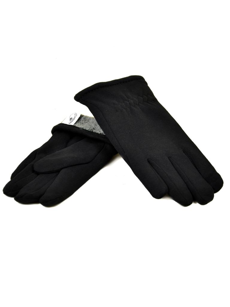 Перчатка Мужская стрейч МариFashion M1/17 мод4 black махра