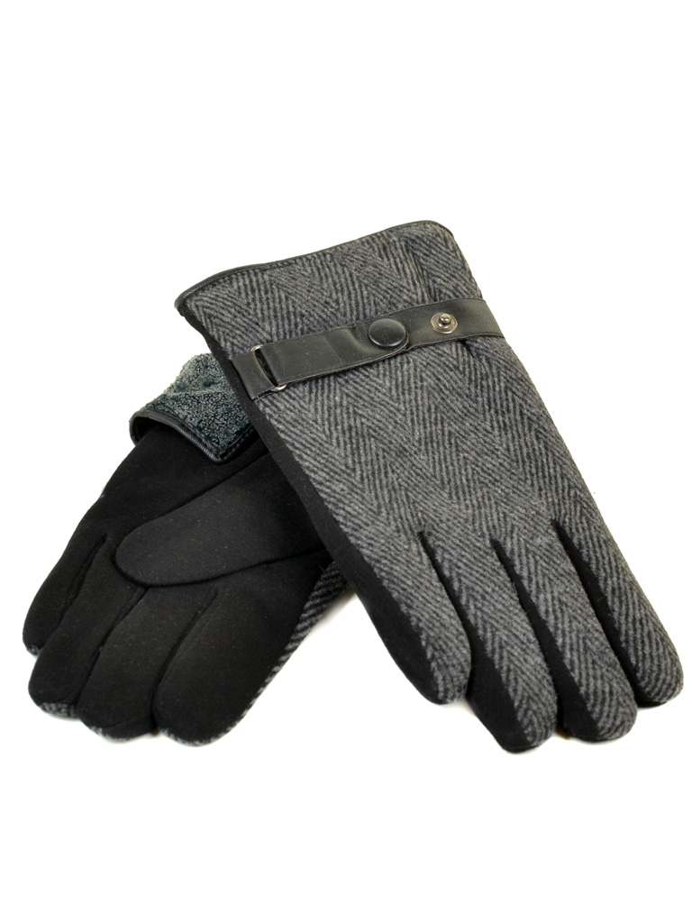 Перчатка Мужская стрейч M3/17 мод2 black махра
