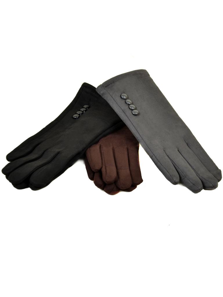 Перчатка Женская иск-замш МариFashion F18/17 мод4 black флис