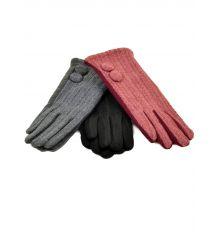 Перчатка Женская стрейч F19/17 мод1 color mix плюш