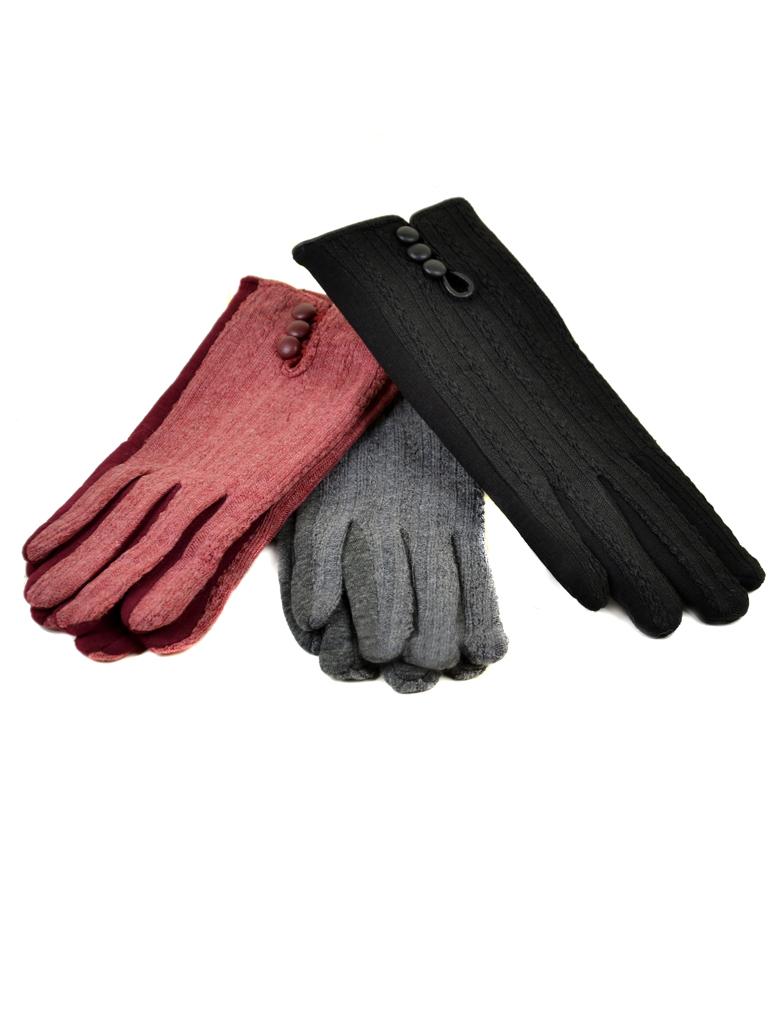 Перчатка Женская стрейч МариClassic F19/17 мод3 color mix плюш