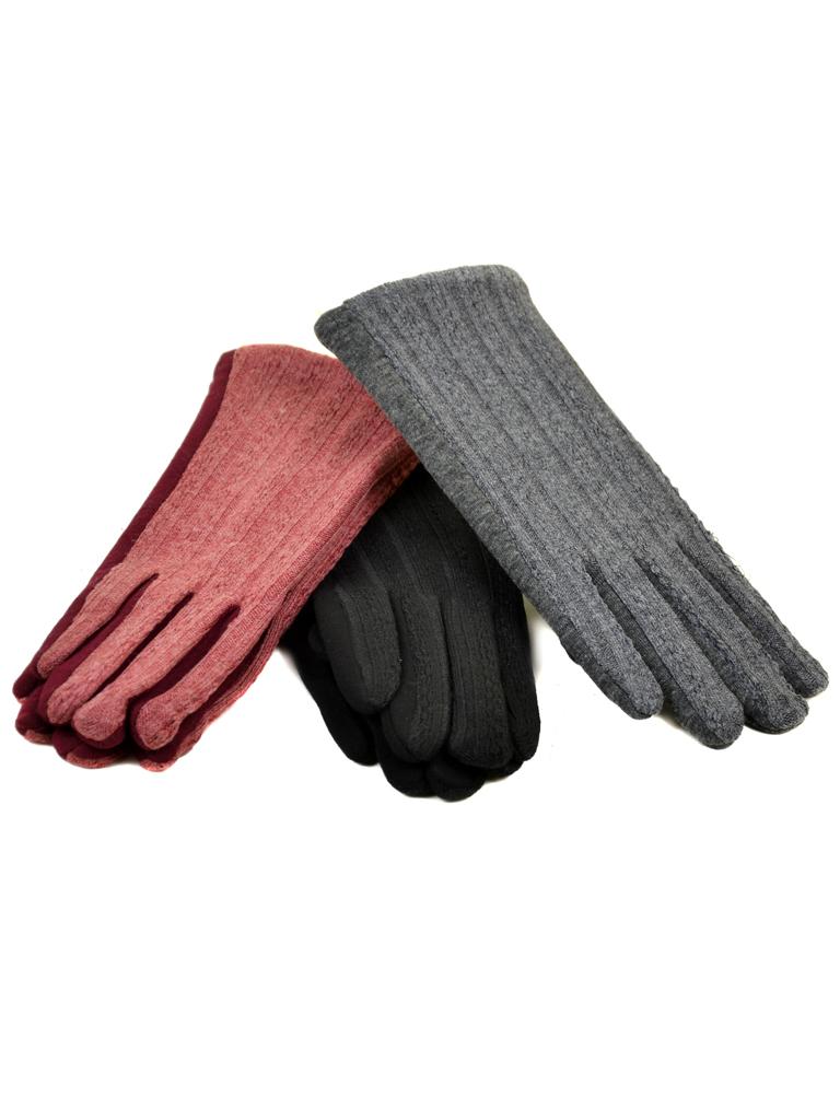 Перчатка Женская стрейч МариClassic F19/17 мод4 color mix плюш