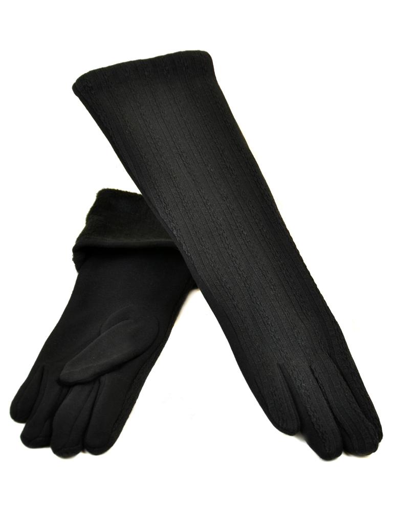 Перчатка Женская стрейч МариClassic F19-1/17 40см black плюш
