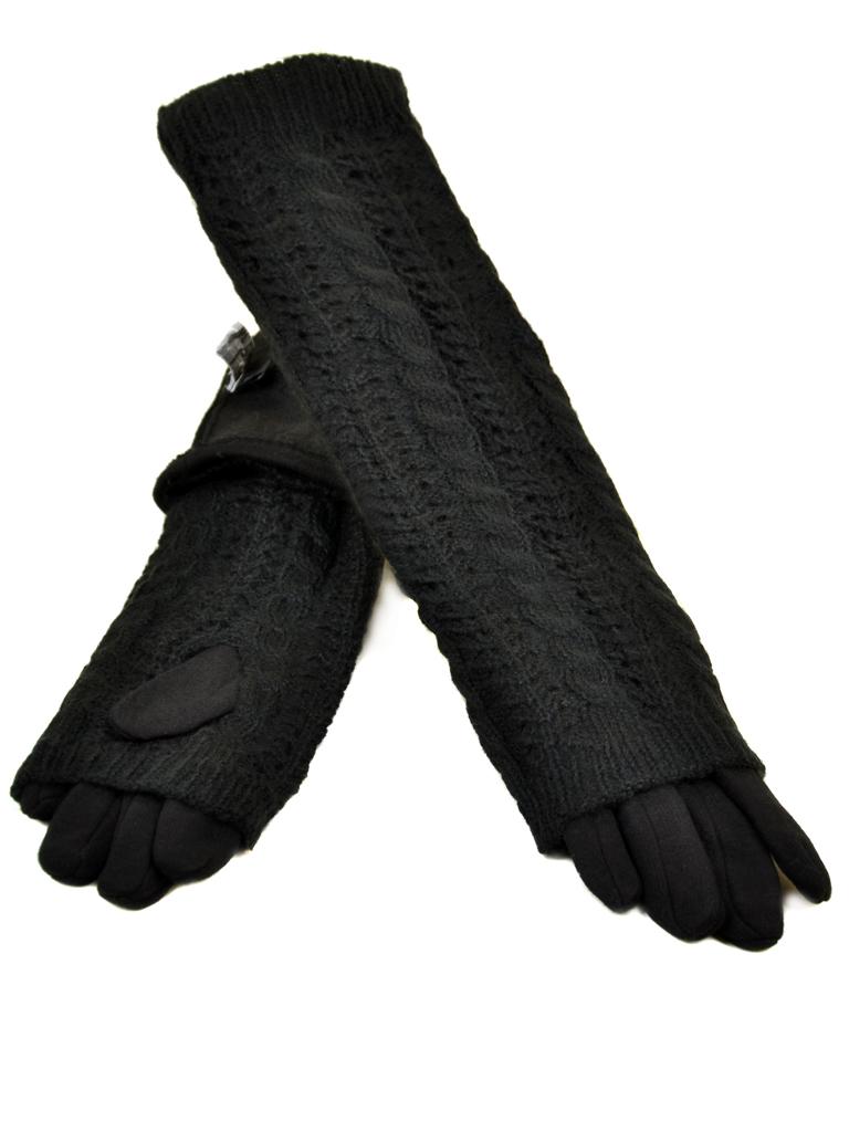 Перчатка Женская стрейч МариClassic F21-2/17 40см black