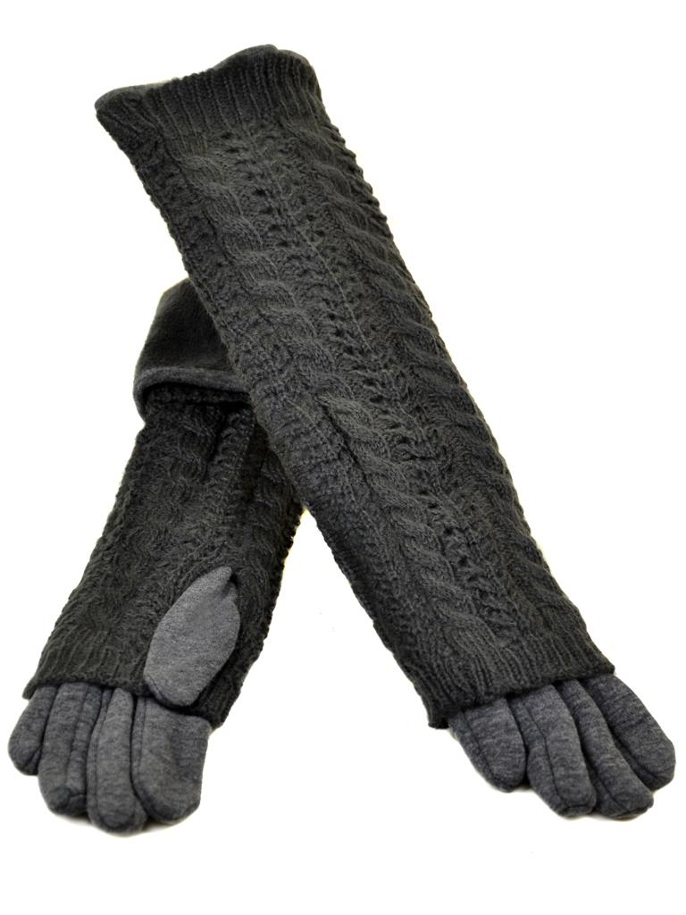 Перчатка Женская стрейч МариClassic F21-2/17 40см grey
