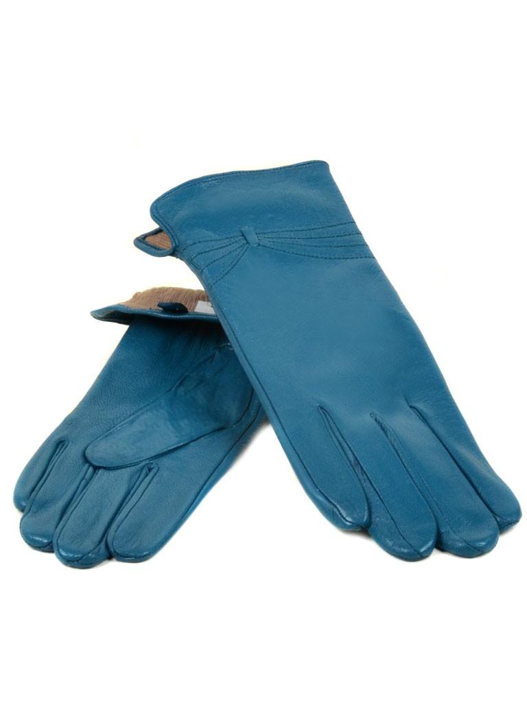 Перчатка Женская кожа МариClassic (Ш) F23 мод5 бирюза st16