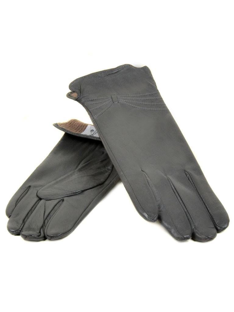 Перчатка Женская кожа МариClassic (Ш) F23 мод5 сер st33
