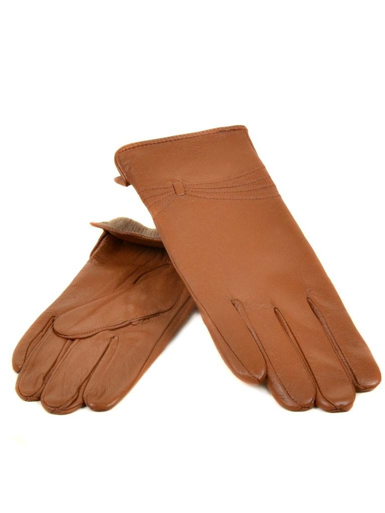 Перчатка Женская кожа МариClassic (Ш) F23 мод5 т.беж st21