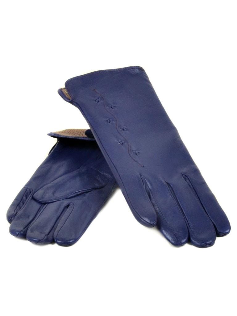 Перчатка Женская кожа МариClassic (Ш) F23 мод6 синий st20