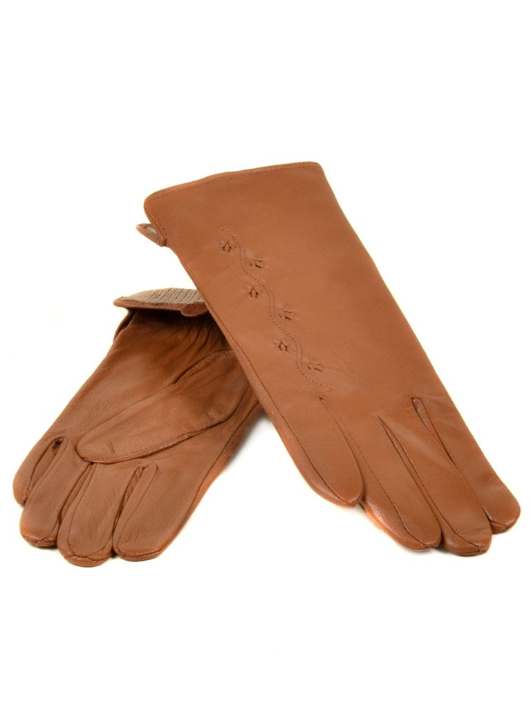 Перчатка Женская кожа МариClassic (Ш) F23 мод6 т.беж st21
