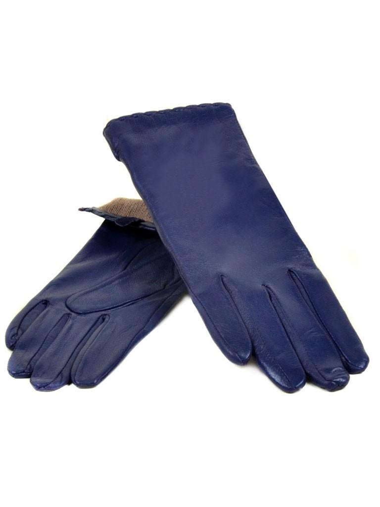Перчатка Женская кожа МариClassic (Ш) F23 мод7 синий st20