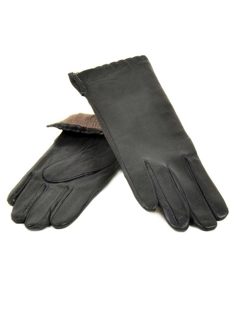 Перчатка Женская кожа МариClassic (Ш) F23 мод7 т.сер st30
