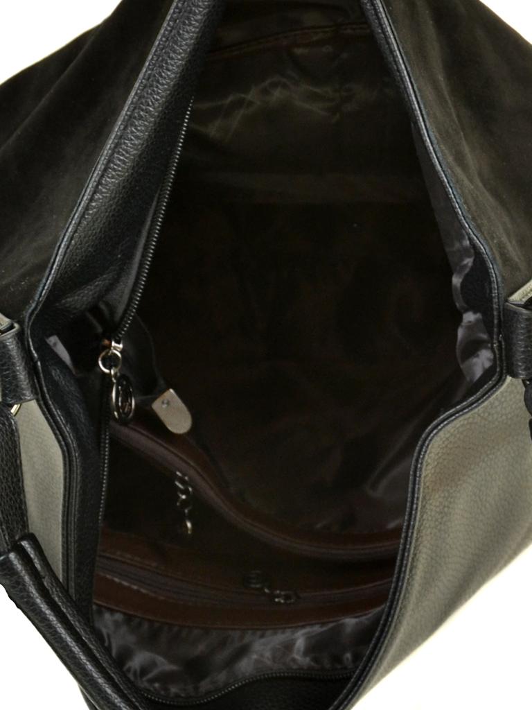 Сумка Женская Классическая замш Alex Rai 09-3 А665 black - фото 4