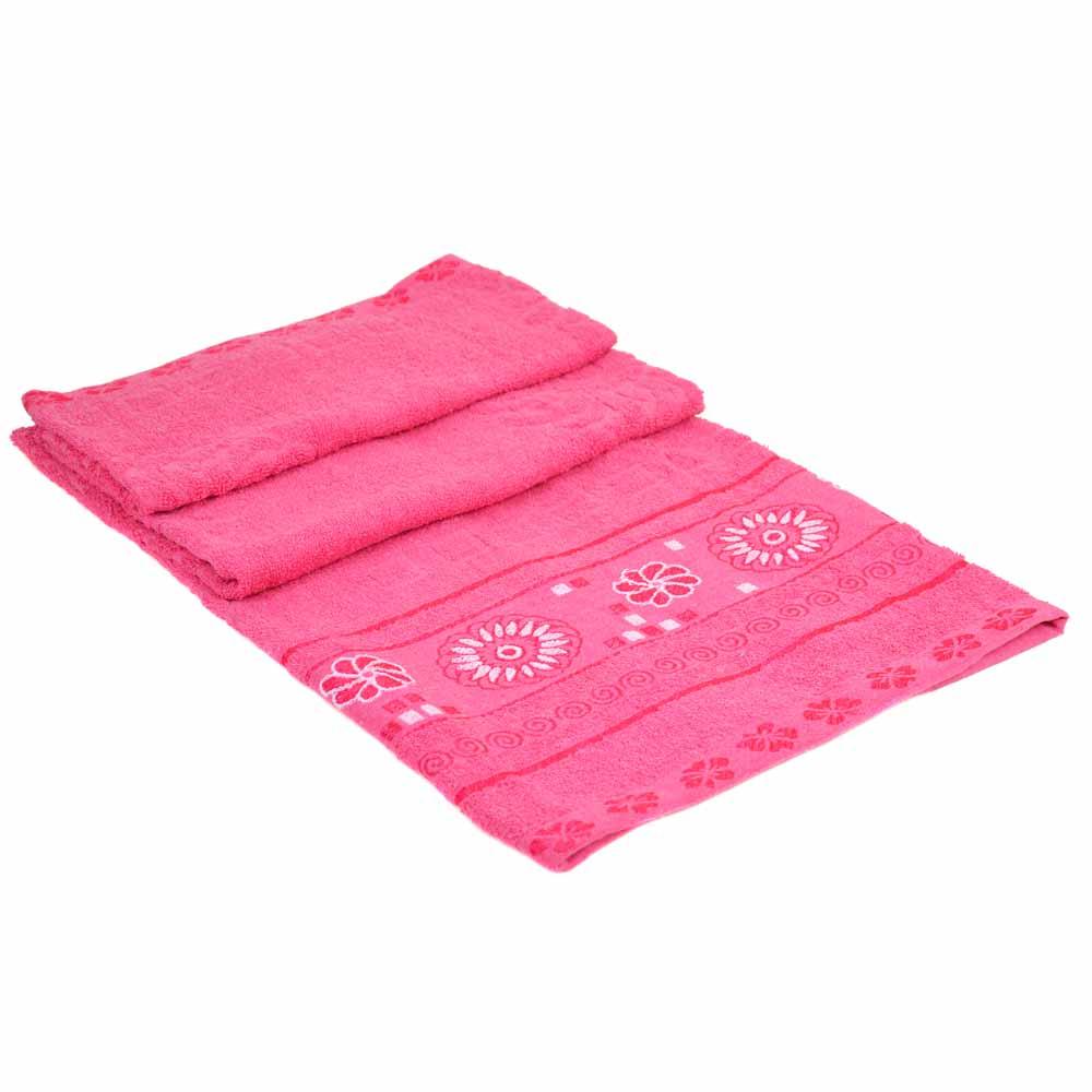 Полотенце Банное махра 70185-1 pink