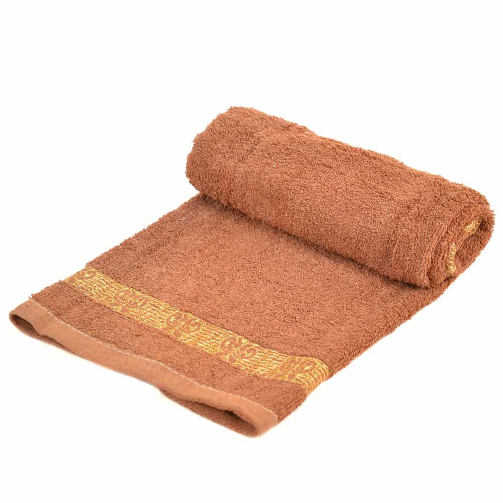 Полотенце Лицевое махра 70188 brown