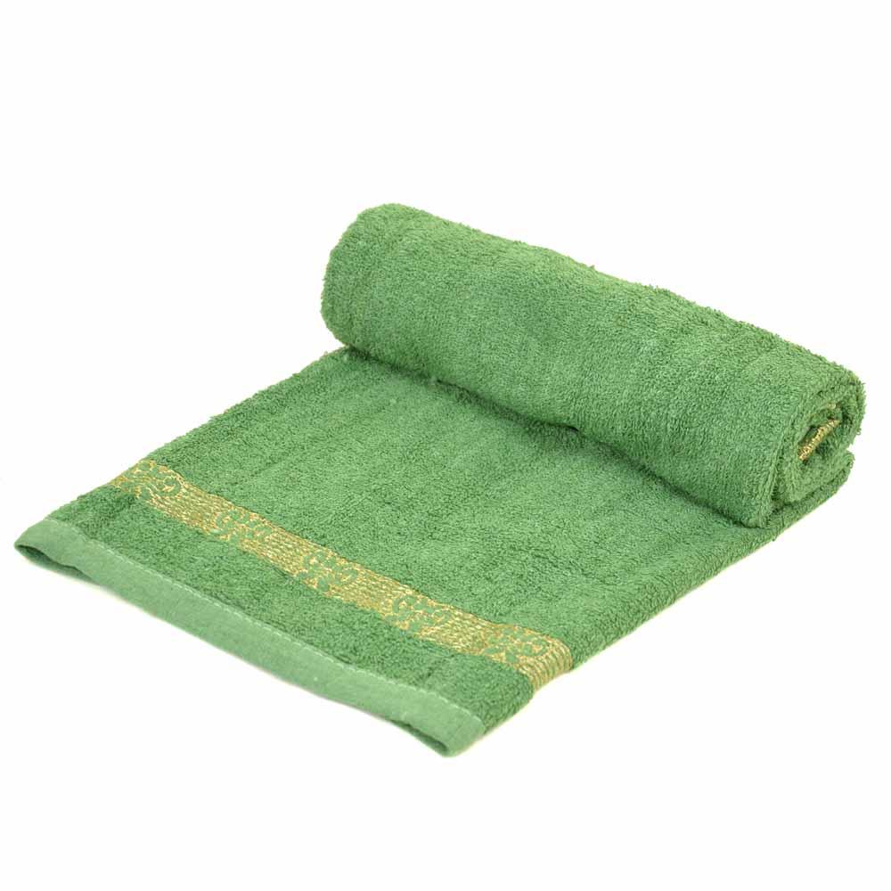Полотенце Лицевое махра 70188 green