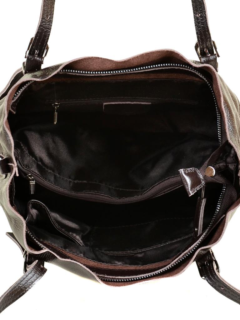 Сумка Женская Классическая кожа PODIUM 012-1 8603-9 brown - фото 5