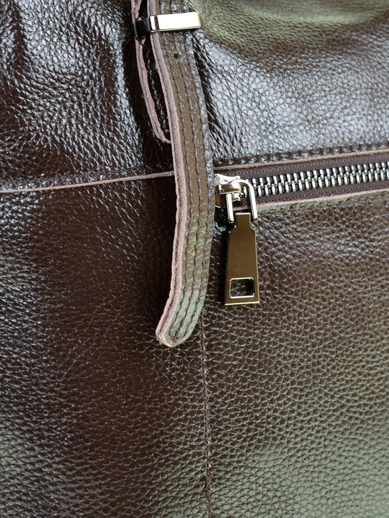 Сумка Женская Классическая кожа PODIUM 012-1 8603-9 brown - фото 4