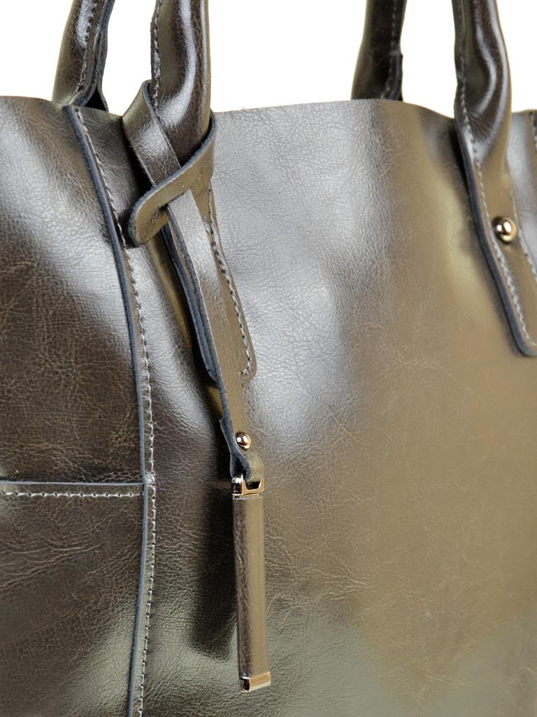 Сумка Женская Классическая кожа PODIUM 012-1 8627 dark-grey